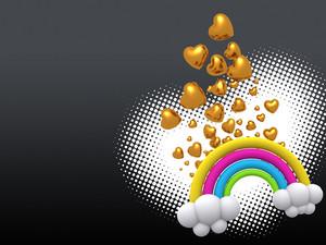Fantasy Rainbow Background