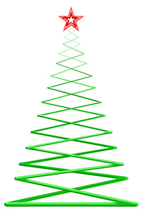Fantasy Zig Zag Style Christmas Tree