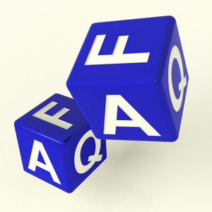 Faq Dice As Symbol For Information Or Answers