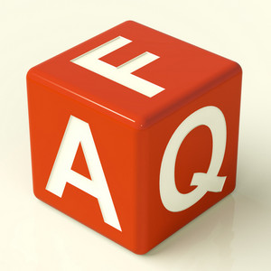 Faq Dice As Symbol For Information Or Assistance