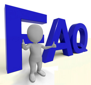 Faq Word As Sign For Information Or Assisting