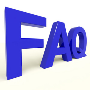Faq Word Showing Information And Answers