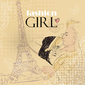 Fashion Girl Paris Abstract