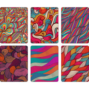 Fashion Tablet Skins. Modern Abstract Backgrounds With Wave Lines To Customize Your Original Device