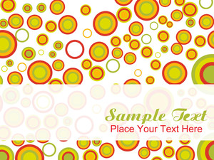 Fashionable Circles Background
