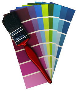Fashionable Colours Of Paint Swatches