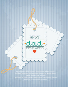 Father's Day Vector Illustration With Vintage Retro Type Font, Sticker, Tag,