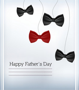 Father's Day Vector Illustration With Vintage Retro Type Font,bow