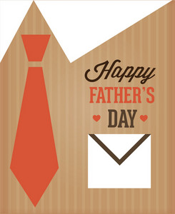 Father's Day Vector Illustration With Vintage Retro Type Font,pocket, Tie