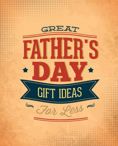 Father's Day Vector Illustration With Vintage Retro Type Font,ribbon
