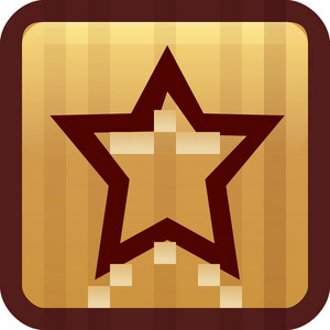 Favorite Star Brown Tiny App Icon