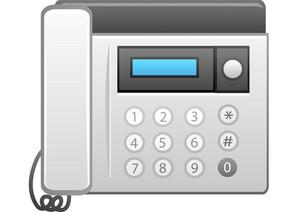 Fax Machine And Telephone
