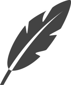 Feathers Glyph Icon