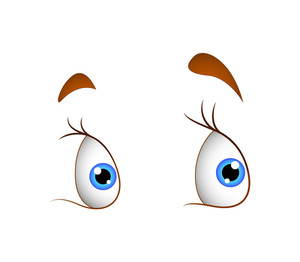 Female Cartoon Eyes Expression