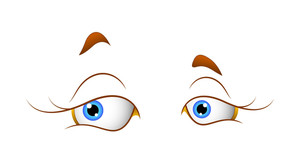 Female Cartoon Eyes