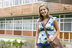 Female college student on campus