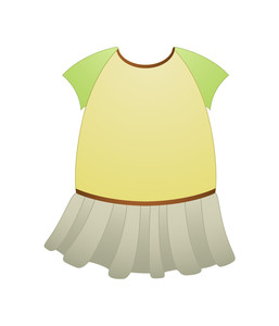 Female Dress Design Vector