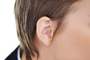 Female ear closeup