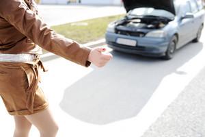Female hitchhiking