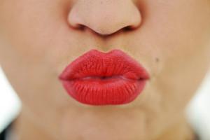 Female lips closeup