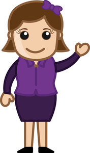 Female Presenter - Business Cartoon Character Vector