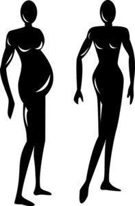 Female Stick Drawing Silhouette
