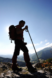 Female trekking