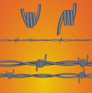 Fence Wire Forks Vectors