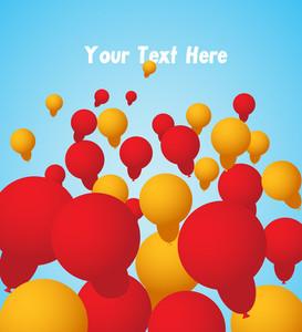 Festival Balloons Background