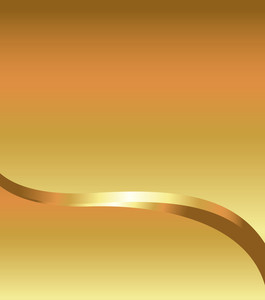 Festival Golden Wave Design Template Vector