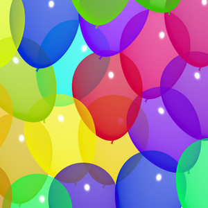 Festive Colorfull Balloons In The Sky For Birthday Or Anniversary Celebrations