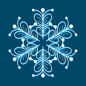 Festive Snowflake Design