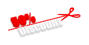 Fifty Percent Discount 3d Banner