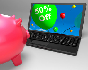 Fifty Percent Off On Laptop Showing Cheap Products