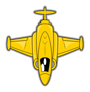 Fighter Plane Vector Illustration