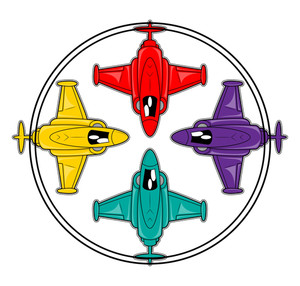 Fighter Planes Vector
