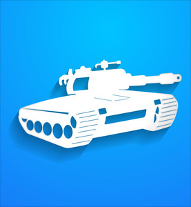 Fighter Tank Vector Shape