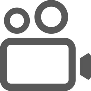 Film Camera Stroke Icon