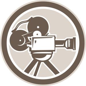 Film Movie Camera Vintage Circle Retro