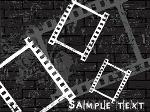 Film Strip Black Vector Grunge Background