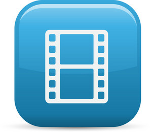Film Strip Elements Glossy Icon