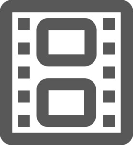 Film Strip Stroke Icon