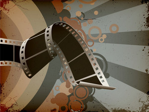 Film Strip With Grunge Background Vector Illustration
