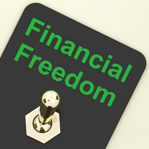 Financial Freedom Switch To Show Wealth And Security