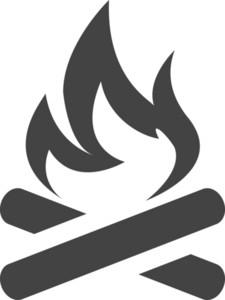 Fire 1 Glyph Icon