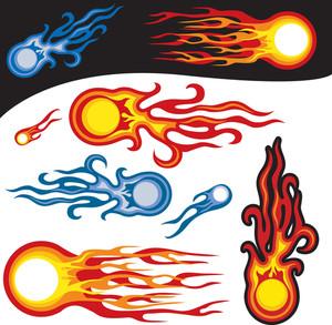 Fire Balls, Vector Symbols