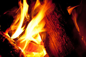 Fire Burning Coals