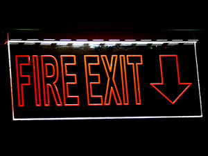 Fire Exit Sign For Emergency