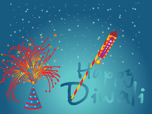 Firework Background Vector Design5