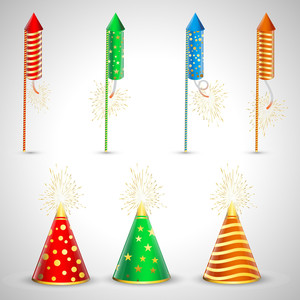Fireworks Vector Elements